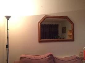 Large pine mirror for sale