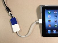 White Dock Connector to VGA Adapter for iPad 2/3/4/iPhone