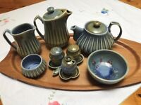 Vintage Irish porcelain by Wade. Rare Rain Drop design
