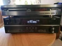 Yamaha RX-V373 and Yamaha CD player