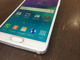 Samsung note 4 in white 32 Gb unlocked condition is excellent
