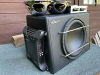 """Mutant Sub with dedicated amp & 6x9"""" parcel shelf speakers with amp"""