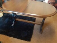 Real wood dining table