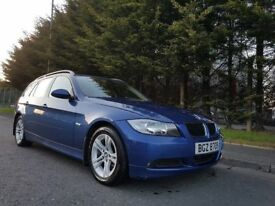 MARCH 2008 BMW 318I SE PETROL AUTOMATIC TOURING LE MANS BLUE METALLIC CREAM LEATHER LOW MILEAGE 74k