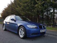 MARCH 2008 BMW 318I SE PETROL AUTOMATIC TOURING LE MANS BLUE METALLIC CREAM LEATHER LOW MILEAGE 74k