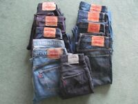 JOB LOT of Genuine Levis Jeans. 10 Pairs in Total.