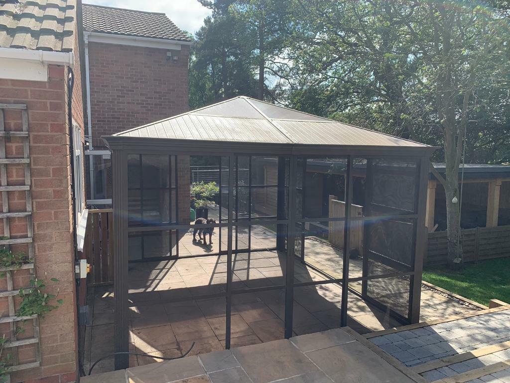 Costco outdoor aluminium gazebo   in Markfield ... on Costco Outdoor Pavilion id=12191