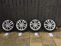 Mk2 leon cupra wheels with winter tyres (5x112 7.5x18 et51)