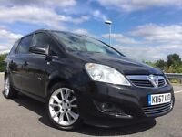 2008 VAUXHALL ZAFIRA 1.9 CDTI 16V DESIGN 5DR LEATHER+SAT NAV+17 INCH ALLOYS