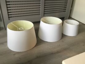 Set of three light shades