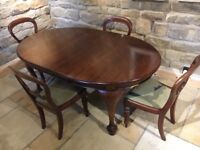 Victorian mahogany table and chairs