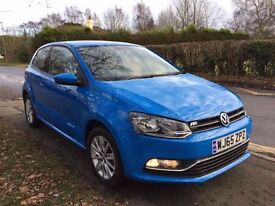 65 PLATE VOLKSWAGEN POLO BLUE 1.2 TSI CAT D 4,600 MILES ON THE CLOCK NEW CONDITION