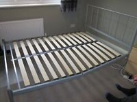 Double bed steel frame Free