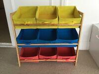 Kids storage rack