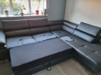 Corner Sofa with double bed and storage + covers
