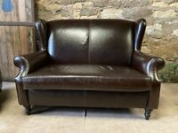 Sherlock Leather brown 2 seater Sofa