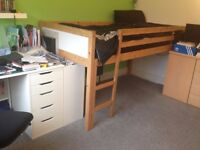 Single bed frame, pine. Mattress is being sold separately.