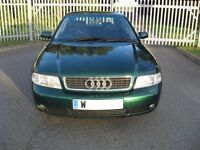 Audi A4 B5 1.8 petrol 2000 FSH Saloon, Fabulous metallic Green, Good condition, Reliable premium car