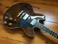 Aria Pro II ES-335 walnut semi acoustic guitar.