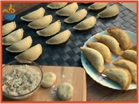 Nabz Biryaniz Homemade Coconut Filled Samosas. Handmade Pastry. Halal. **Collection** Party Catering