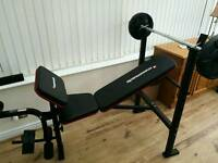 Maximuscle bench and weights