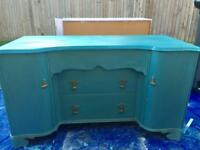 Painted vintage sideboard chest of drawers dresser