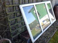 large white double glazed windows and frame