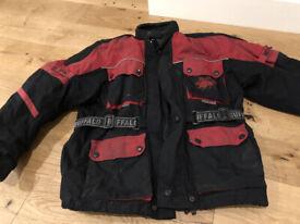 Buffalo Scotchlite 3M Motorcycle Biker Jacket Black /Red Size S