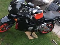 Honda CBR 600, fast sports bike, drop handlebars
