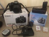 Cannon eos 550d with extras