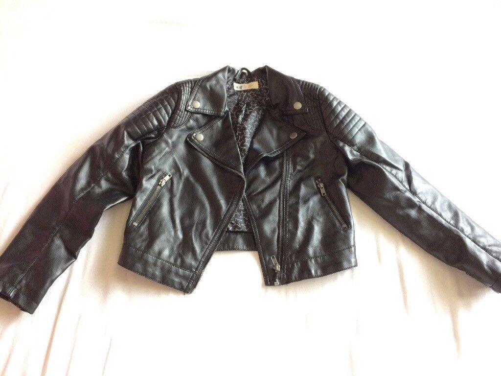 Girls biker style jacket age 8-9