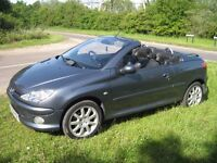 2006 Peugeot 206 Allure CC.1.6 HDI Diesel.2 owners from new.Service history.