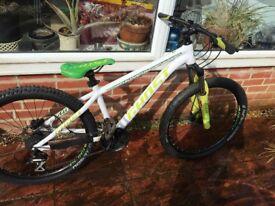'GHOST' Hybrid Jump / Mountian Bike. White/Green/Black. 9/10 condition