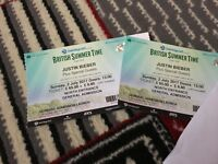 2 TICKETS - JUSTIN BIEBER - HYDE PARK -£195 FOR BOTH