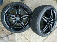 "18"" 5X100 BBS SPLIT RIM STYLE BLACK ALLOY WHEELS VW GOLF A3 BBS CUPRA VRS RONAL MK4 BORA SEAT LEON"