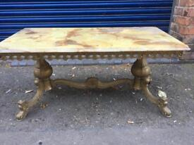 Marble Table with brass!