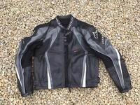 WOLF leather motorbike jacket