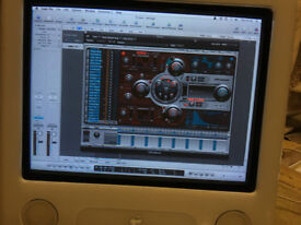 Apple eMac - Logic & Garageband Software - Perfect demo recording studio. Apple Keyboard & mouse