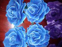 Artifcial Roses x 80 blue flower heads