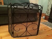 Wrought iron fire guard