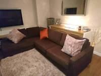 Sofa Workshop Large Brown Corner Sofa, DELIVERY AVAILABLE