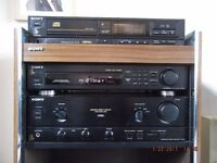 Sony hi fi separates and cabinet.