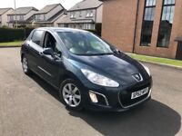 """IMMACULATE, MAY PX """"2012 (62 REG) PEUGEOT 308 HDI ACTIVE 1.6 BLUE 5 DOOR £20 TAX"""