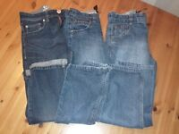 3 pairs boys Next jeans aged 11 plus fit £10