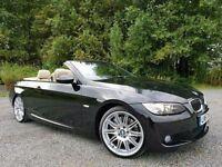 "BMW 335i M Sport 308 BHP Auto (PADDLE SHIFT) Convertible, Pro Nav, Xenons, Sports Pack, 19"" M Alloys"