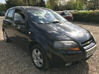 Chevrolet Kalos SX 1399cc Petrol 5 speed manual 5 door hatchback 07 Plate 01/03/2007 Black