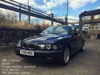 BMW 5 Series 12 Months MOT Black Cream Leather Automatic 3.5L Petrol or LPG Autogas option 1999
