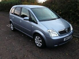Bargain!! 2005 (55 reg) Vauxhall Meriva Breeze 1.4 Great Condition, 11 months mot