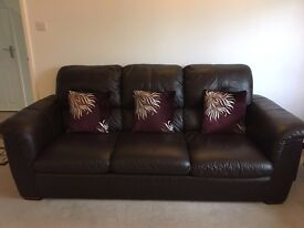 3 seater Leather sofa for sale x2