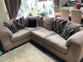 LARGE CORNER SOFA - MINK COLOUR